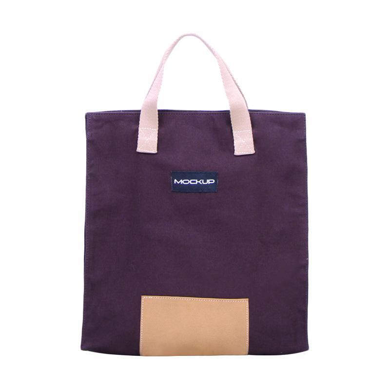 Mockup BGO.12-Tas Unisex Mini Tote Bag - Dark Brown