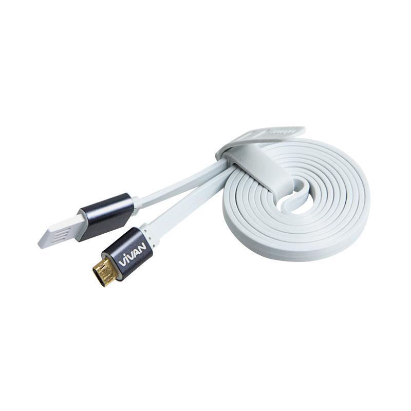 Jual VIVAN XM100 Micro USB Kabel Data for Android - Putih [1 M] Online - Harga & Kualitas Terjamin | Blibli.com