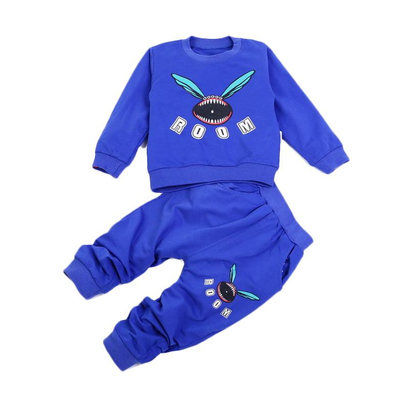 Chloe Babyshop Monster Room F973 Setelan Anak - Blue