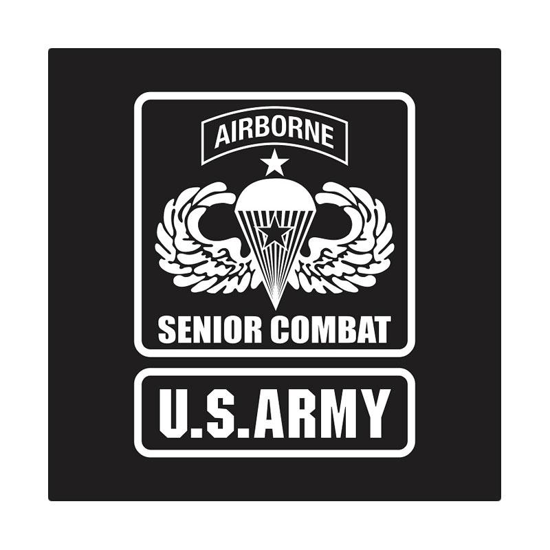 Kyle US Army Airborne Senior Combat Cutting Sticker