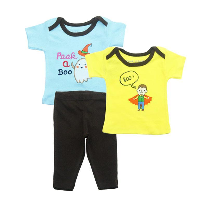 Bearhug Boy Boo Setelan Pakaian Bayi Laki-laki [3 pcs] - Kuning