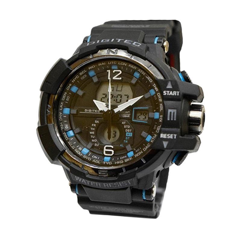 Digitec Dg 2065 Digital Jam Tangan Pria - Hitam Biru