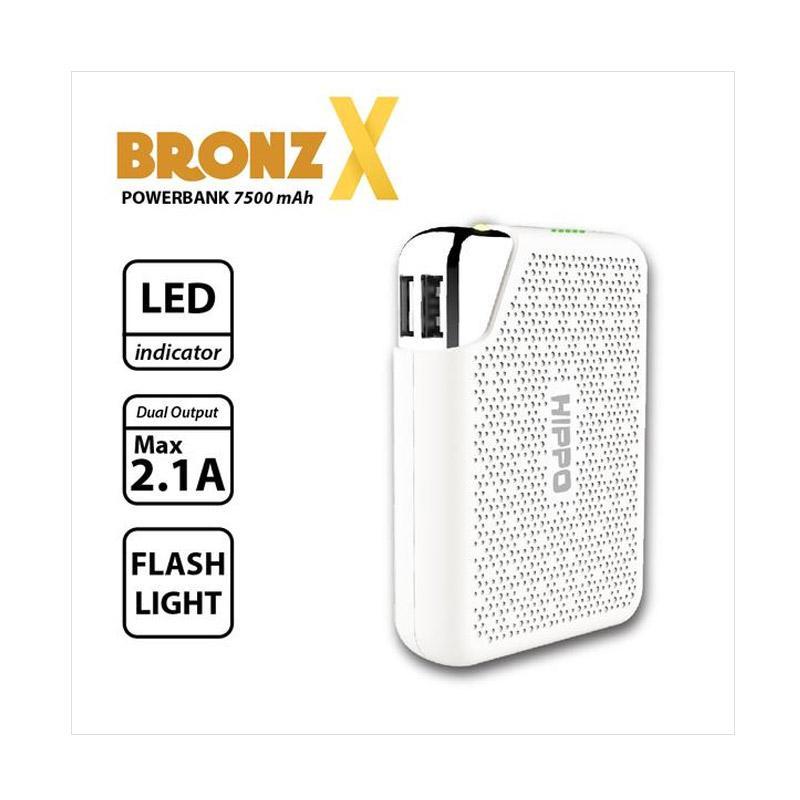 Jual HIPPO BRONZ X Powerbank - Putih [7500 mAh/ Simple Pack] Online - Harga & Kualitas Terjamin   Blibli.com
