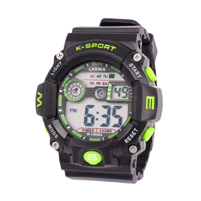 Lasika Sport Digital W-H 9004 Jam Tangan Unisex - Green