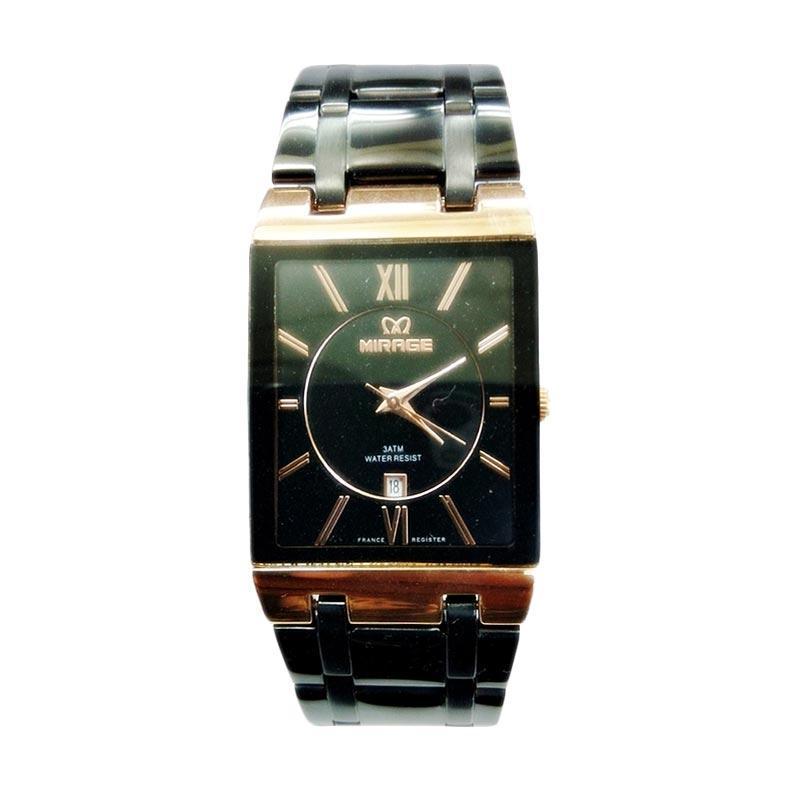 Jual Mirage M975G Jam Tangan Fashion Pria - Silver Black Gold Online - Harga & Kualitas Terjamin | Blibli.com