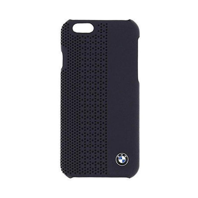 BMW Perforated Hardcase Casing for iPhone 6 Plus - Blue