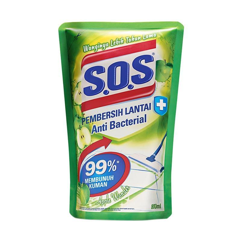 SOS Pembersih Lantai Apple Wonder Refill - Green [800 mL]