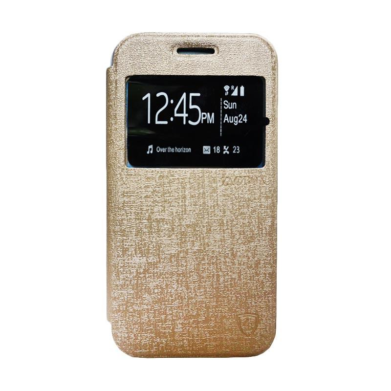 Zagbox Flip Cover Casing for Xiaomi Redmi 1S - Gold