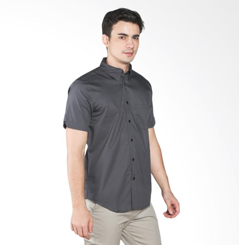 A&D MS 516D Fashion Short Sleeve Mens Shirt - Grey