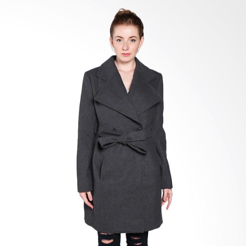 harga Coldwear 15653 Trench Coat Jacket Wanita - Light Grey Blibli.com