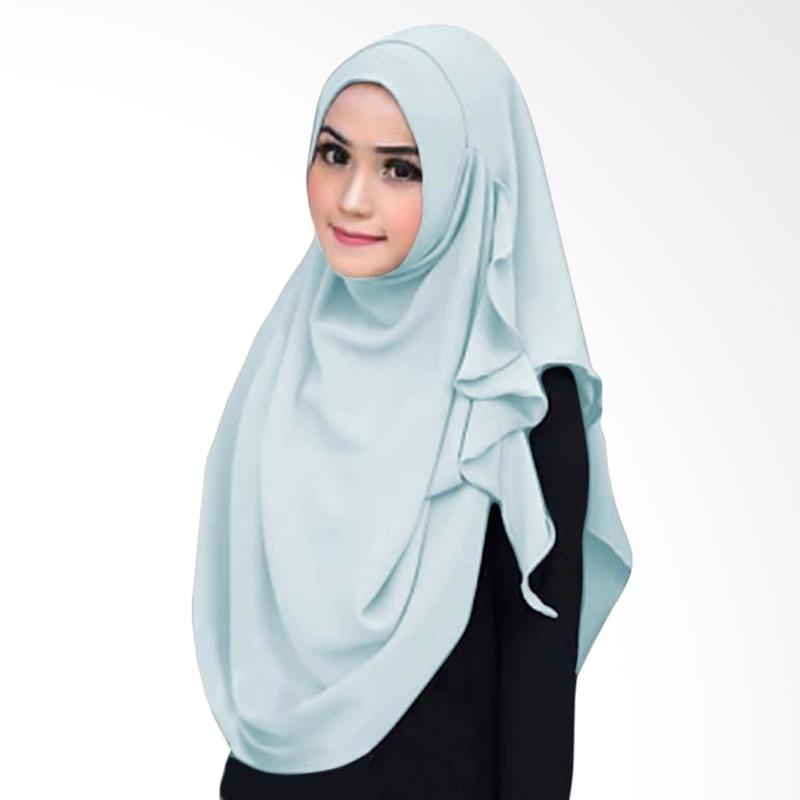 Kus_group Flowing Hijab Instant - Sky blue