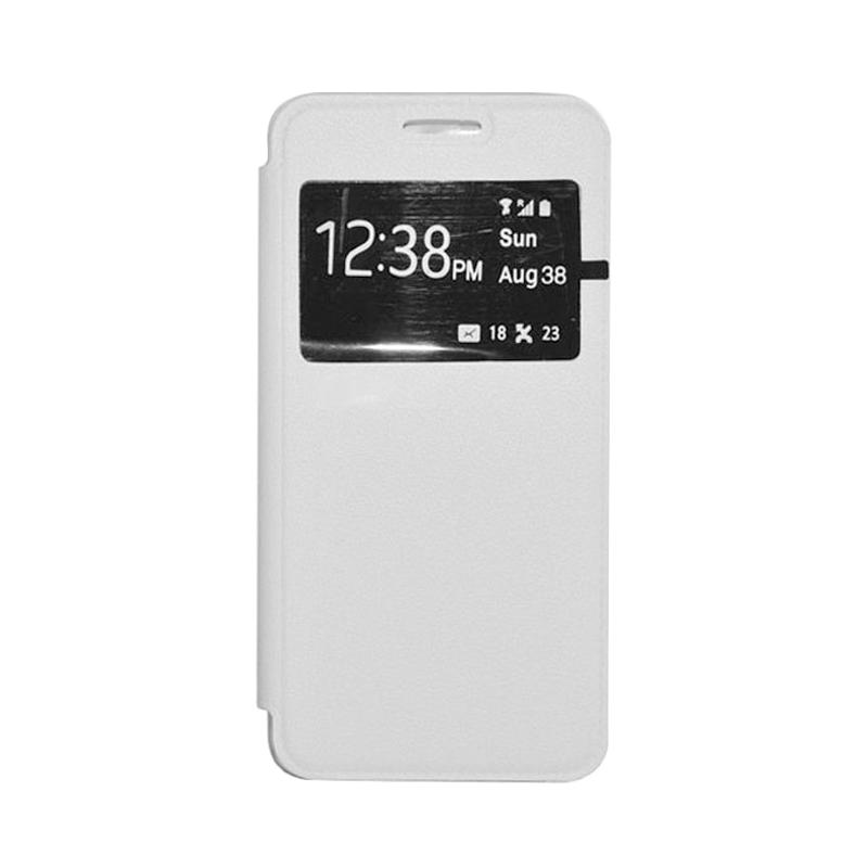 OEM Book Cover Leather Casing for Xiaomi Redmi - White