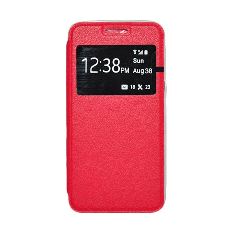 OEM Leather Book Cover Casing for Sony Xperia Z3 - Red