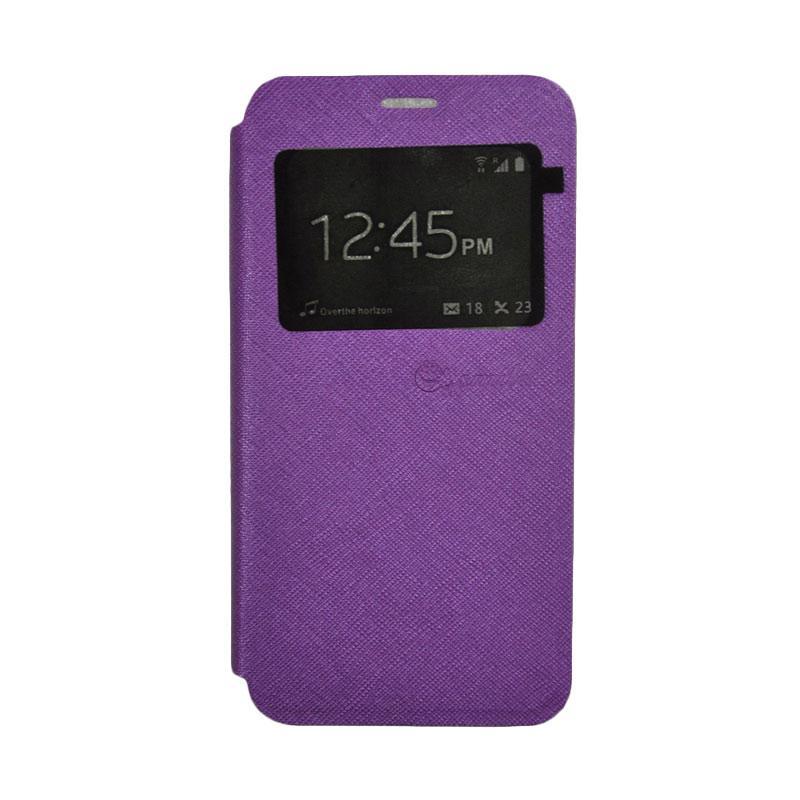 SMILE Flip Cover Casing for Xiaomi Redmi 4A - Purple