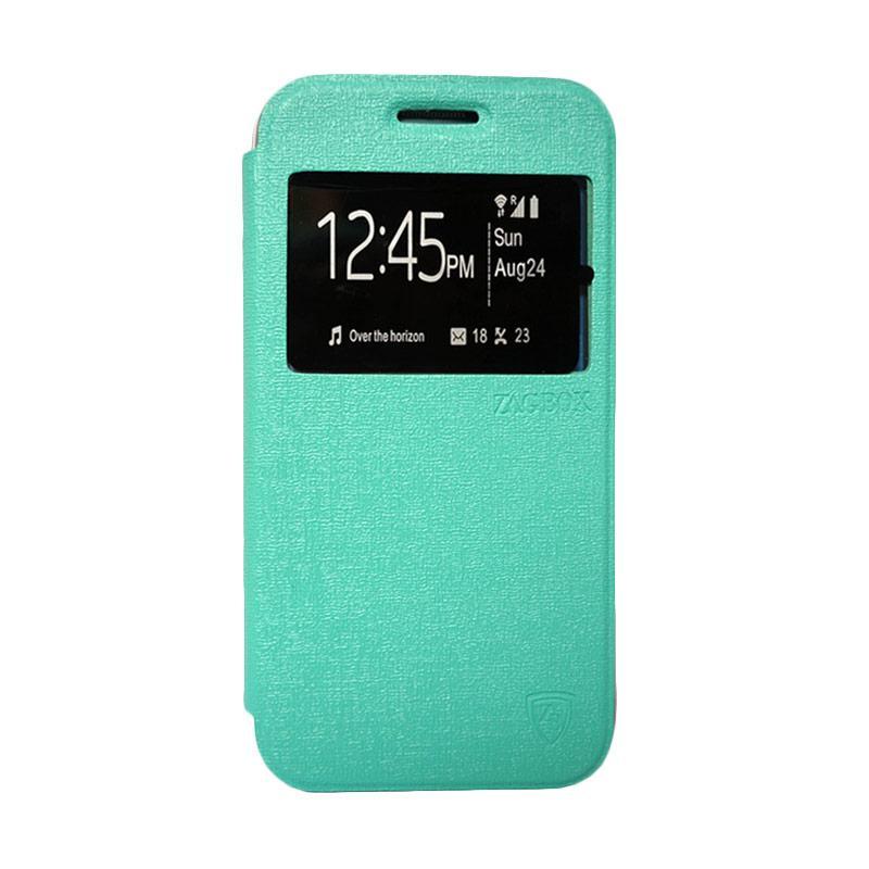 Zagbox Flip Cover Casing for Samsung Galaxy E5 - Hijau Tosca