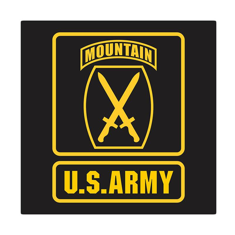 US Army 10th Mountain Division Cutting Sticker