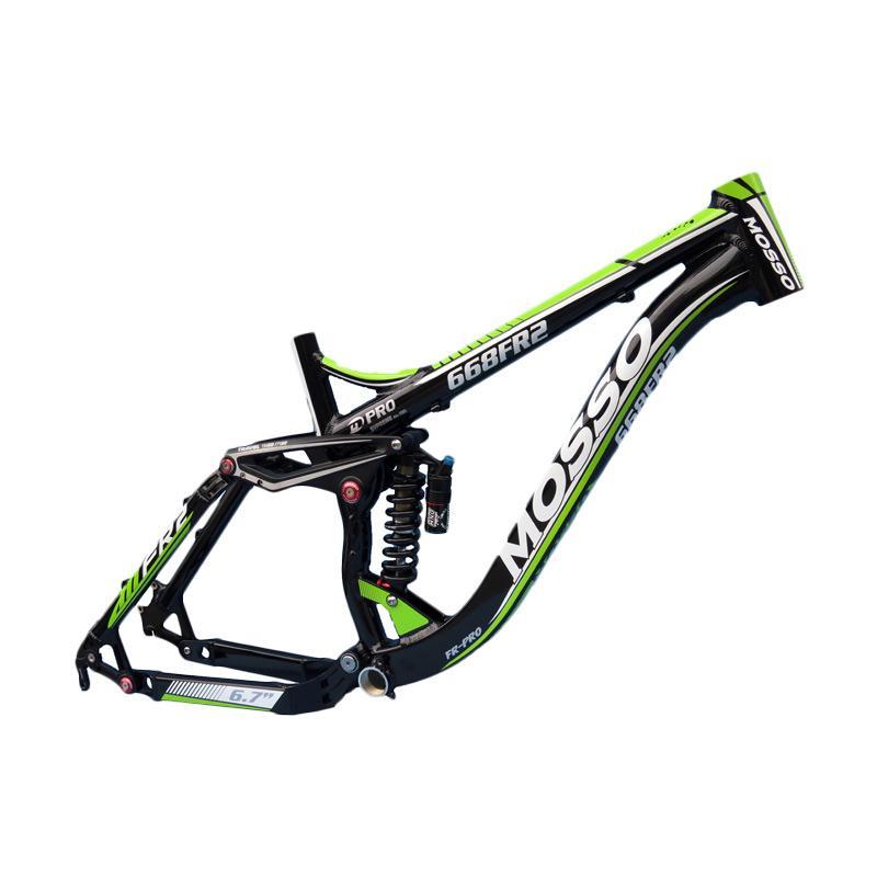 harga Mosso 668FR Free Ride Frame Sepeda - Black Green Metalic Blibli.com