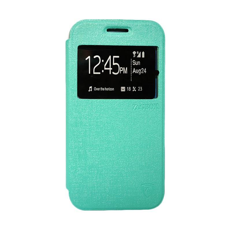 Zagbox Flip Cover Casing for Samsung Galaxy J1 - Hijau Tosca
