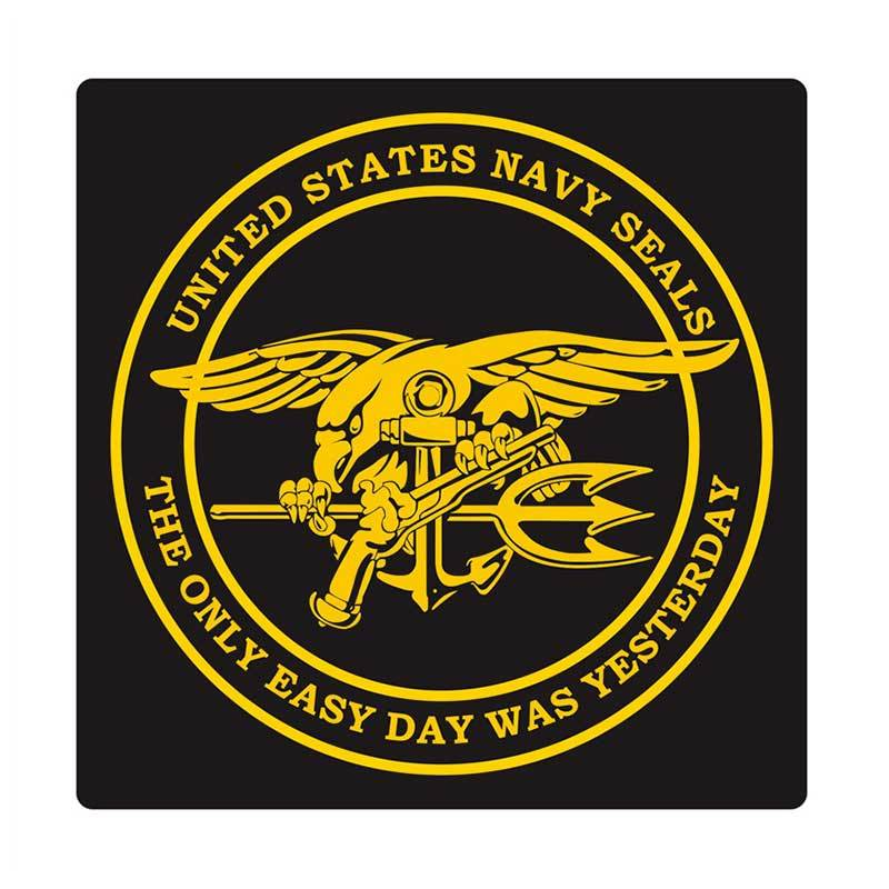 Kyle United States Navy Seal Round Cutting Sticker