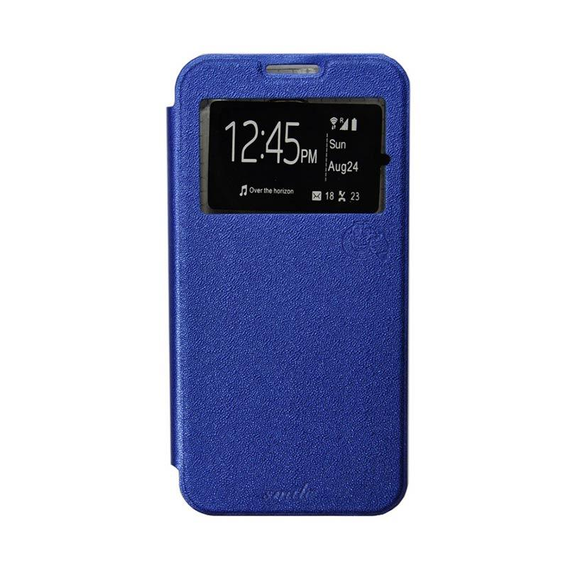 SMILE Flip Cover Casing for Xiaomi Redmi 2 - Biru Tua