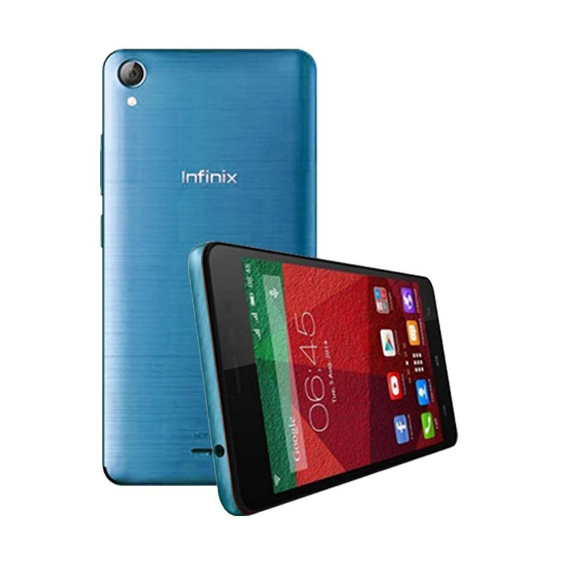 Ultrathin Casing for Infinix Hot Note - Blue Clear + Free Ultra Thin