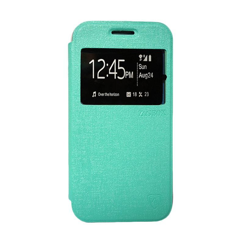 Zagbox Flip Cover Casing for Samsung Galaxy E7 - Hijau Tosca