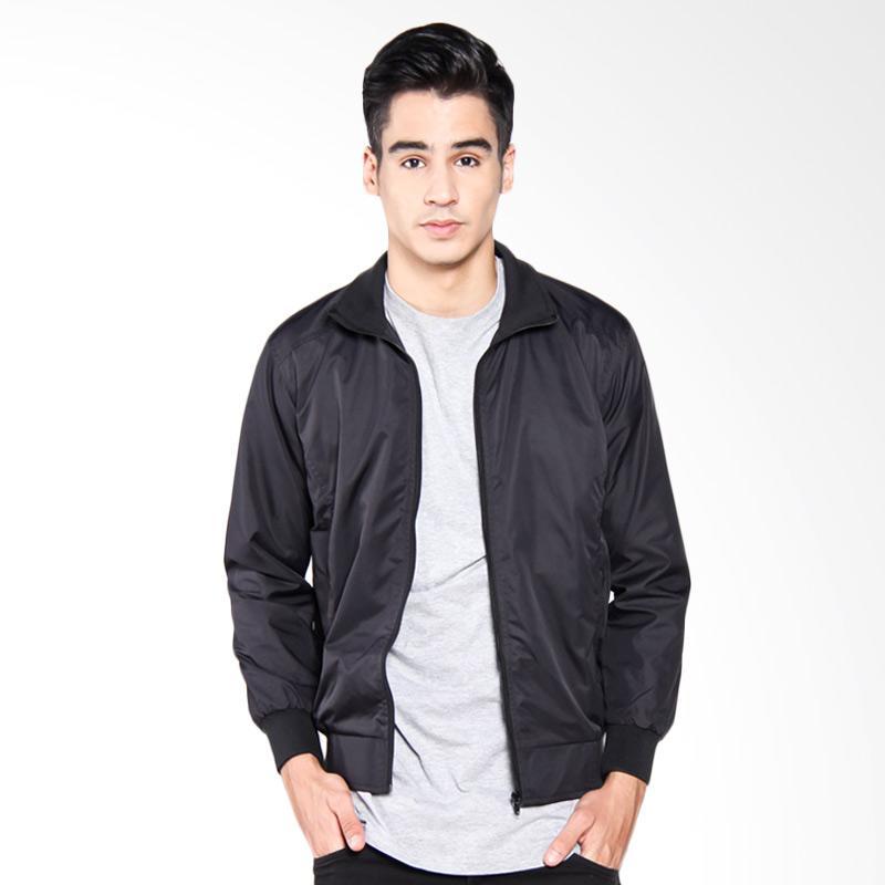 Bafash Mens Sportwear Windcheater Jaket Pria - Black
