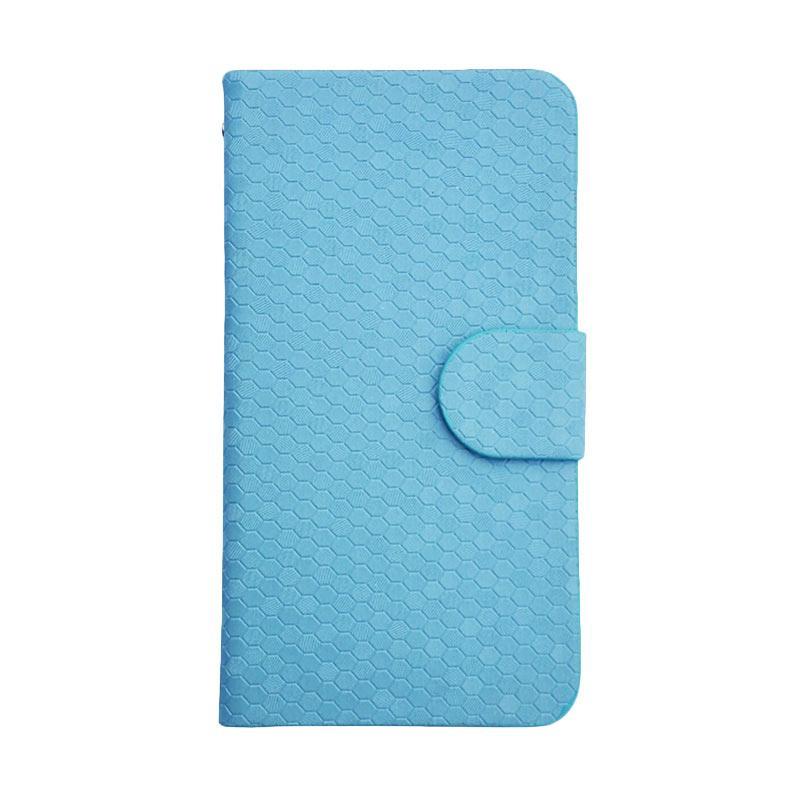OEM Glitz Flip Cover Casing for Xiaomi Redmi 3x - Biru