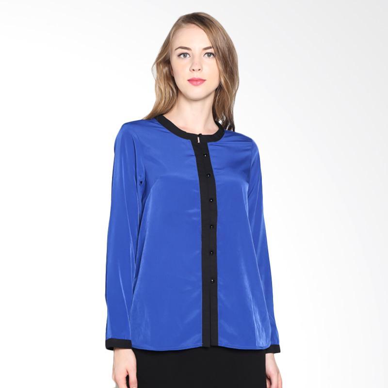 PS Career Two-Tone Shirt PC403TU40023 Atasan Wanita - Blue