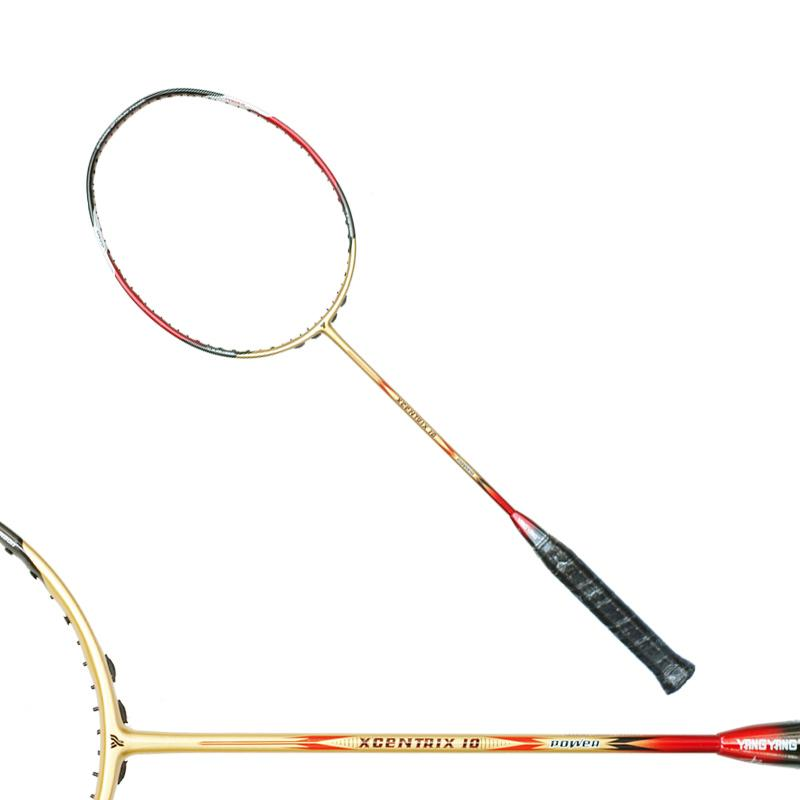 Yang Yang XCentrix 10 Raket Badminton - Gold Black