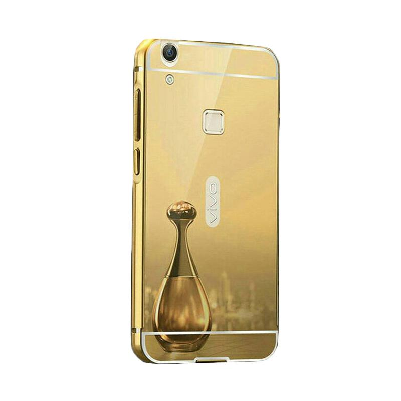 Bumper Mirror Sliding Casing for Vivo V3 Max - Gold