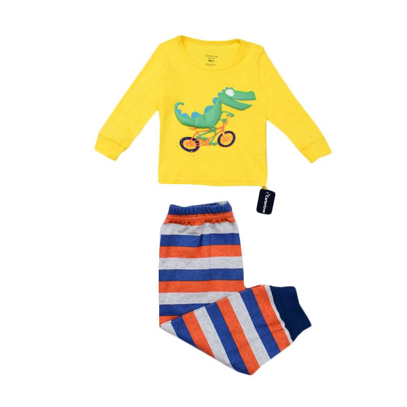 Chloebaby Shop Dino On Bicycle F1040 Piyama Anak