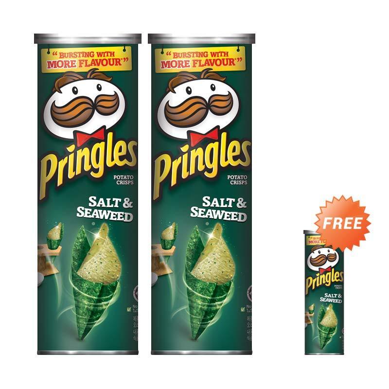 harga Buy 2 Pringles Salt Seaweed Makanan Ringan [110 g] + Free 1 Blibli.com