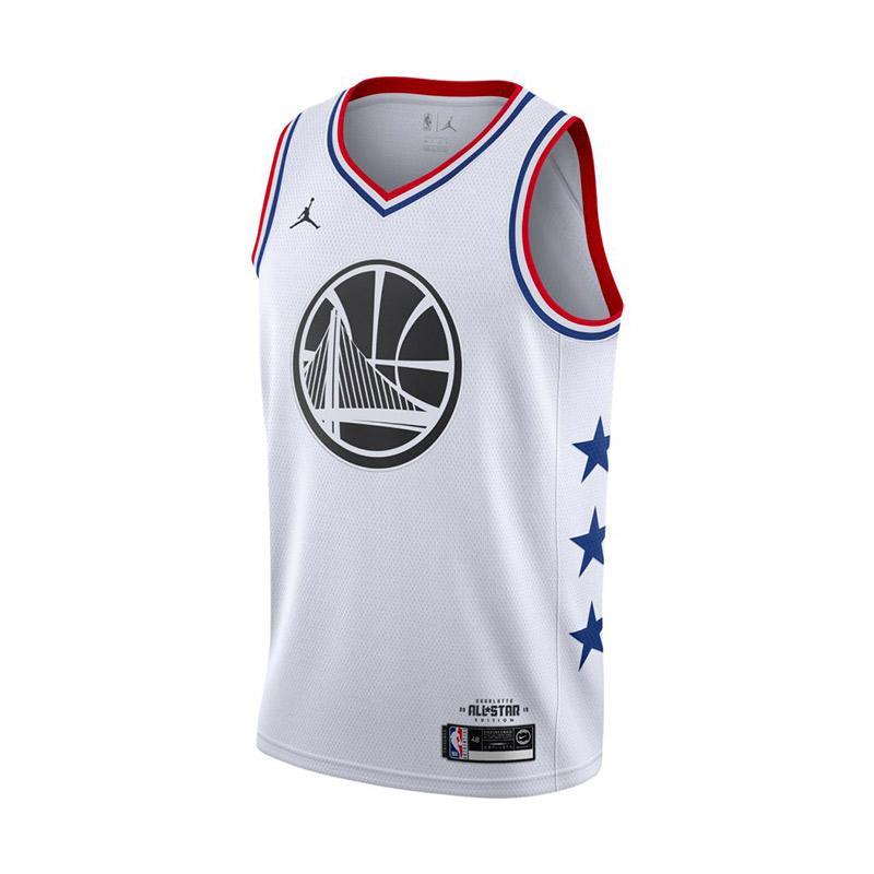 Nike Men Basketball Stephen Curry Swingmen All Star Jersey White 19 AQ7297 101