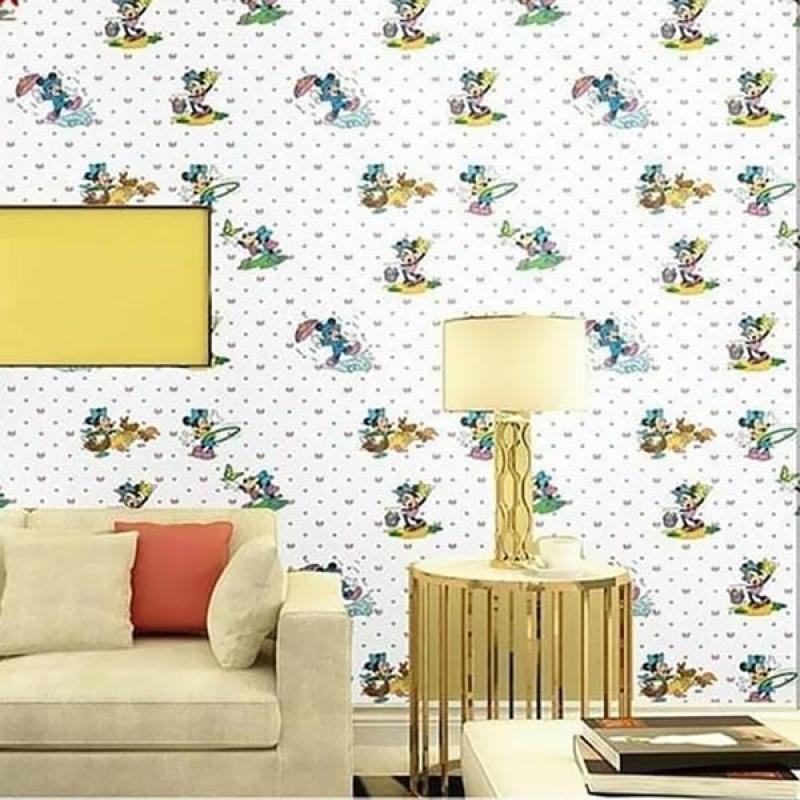 Jual Yuyu Mickey Mouse Wallpaper Sticker Dinding Online November 2020 Blibli Com