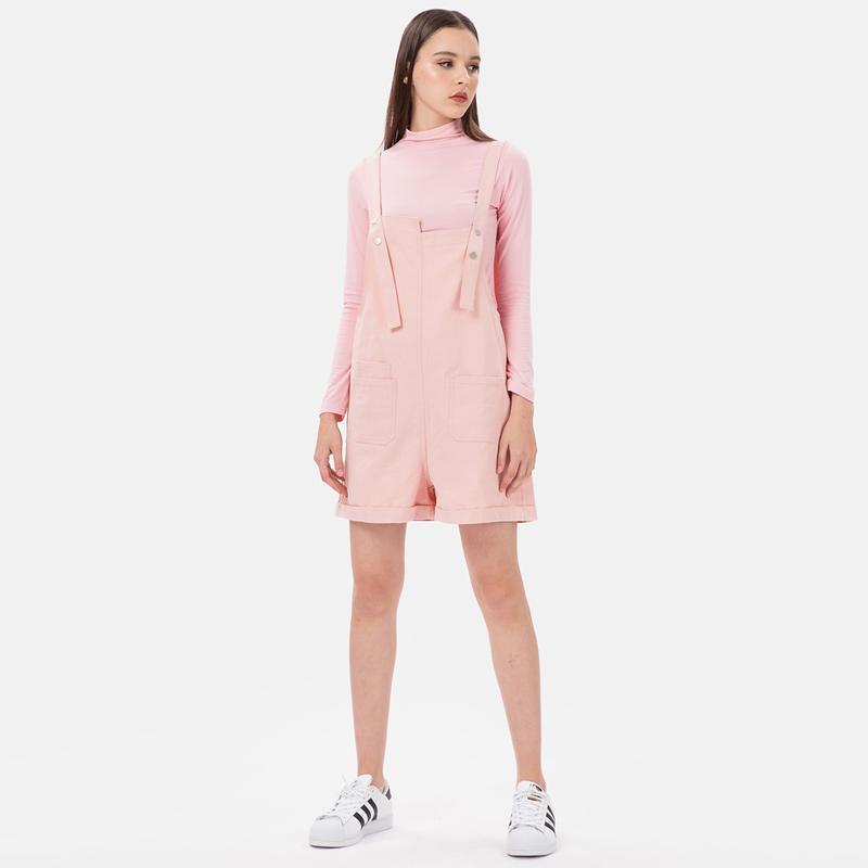 MKY Clothing Snap Button Pastel Overall Wanita