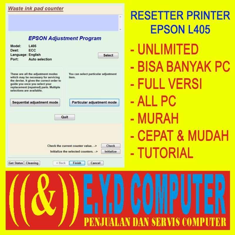 Jual Epson L405 Resetter Printer Software Unlimited All Pc Full Versi Online Februari 2021 Blibli