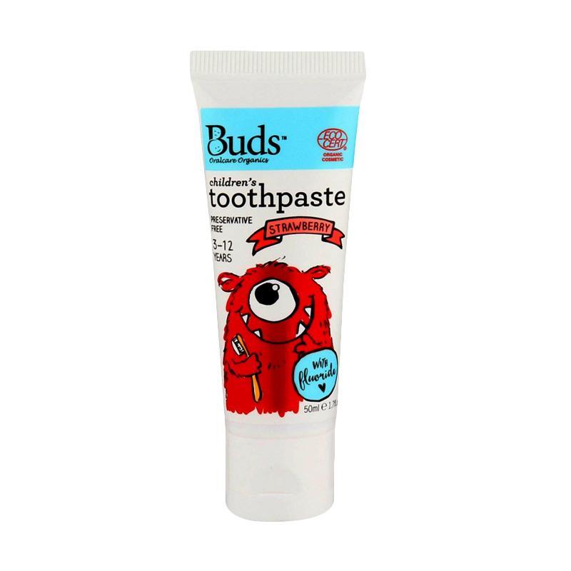 Buds Children's Toothpaste - Strawberry [50 mL/3 - 12 Year]