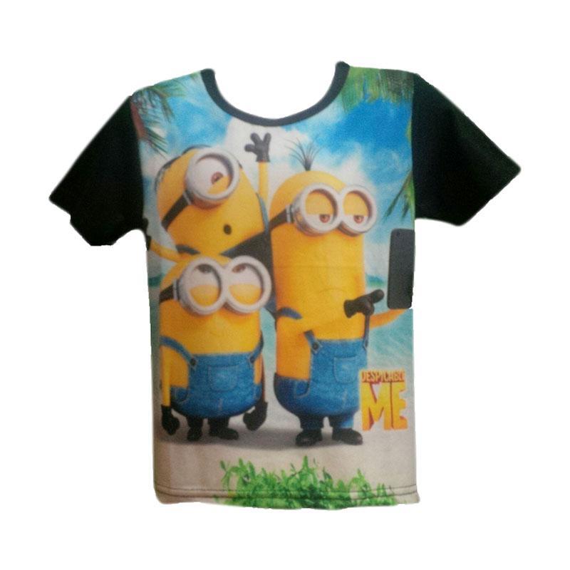 Chloebaby Shop Minion Big 3 F665 T-shirt - Hitam