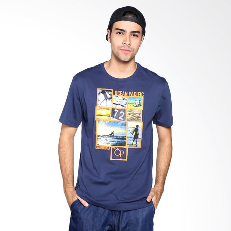 Ocean Pacific Fashion 03MTF93653 Mens T-Shirt - Navy