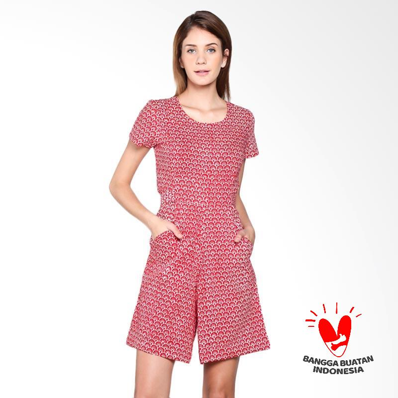 harga Tobal Batik Motif Bulu Merak Jumpsuit - Merah Blibli.com