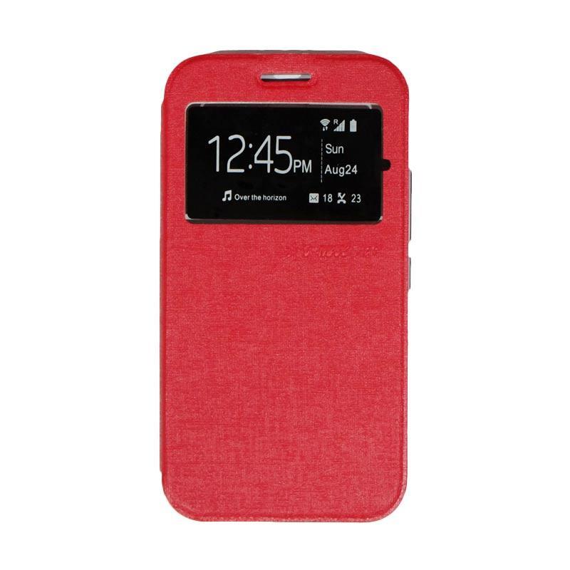 UME Flipshell Flip Cover Casing for Advan S5E NXT - Red