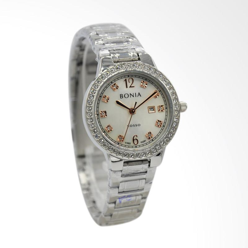 Bonia Rosso BNB10281-2355S Jam Tangan Wanita - Silver Putih
