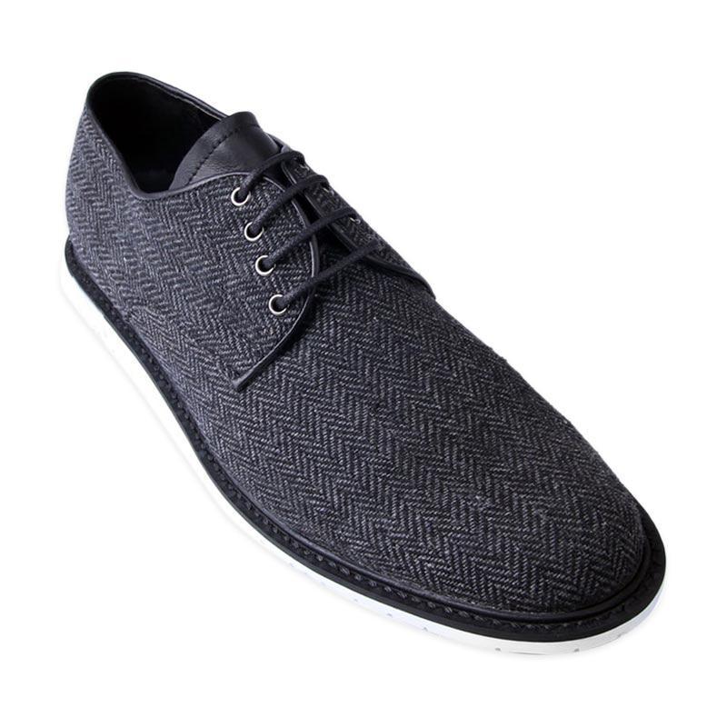 Ftale Footwear Shawn Mens Shoes - Herringbone Black