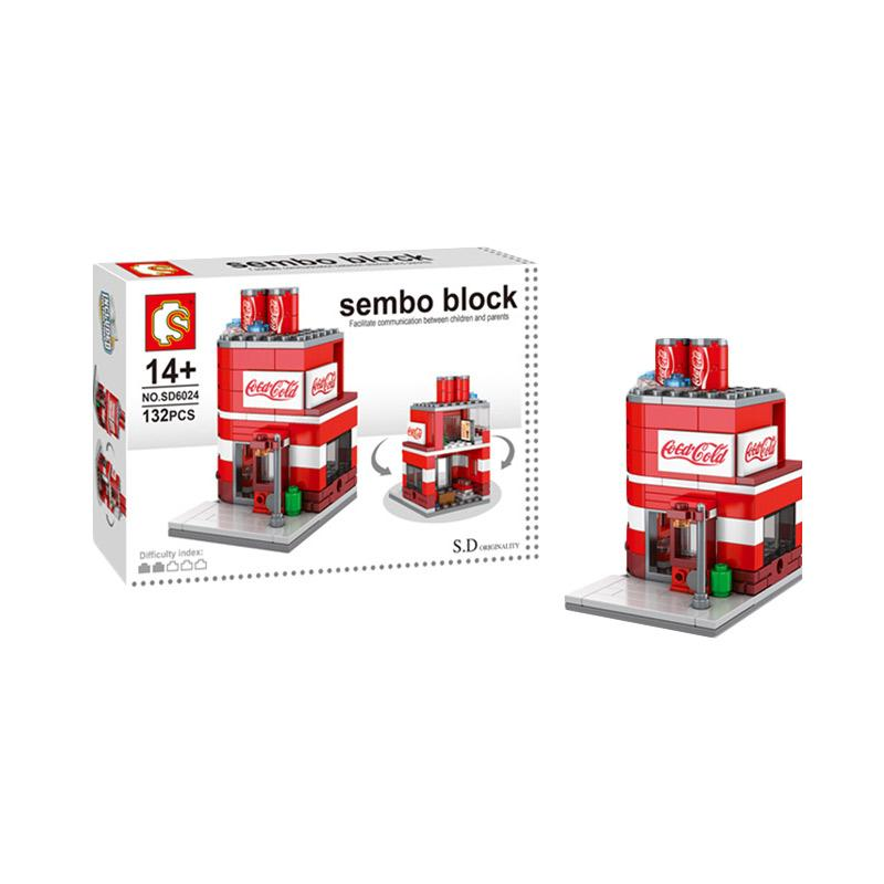 FUNBRICK SD6024 Sembo Coke House Mainan Mini Blocks