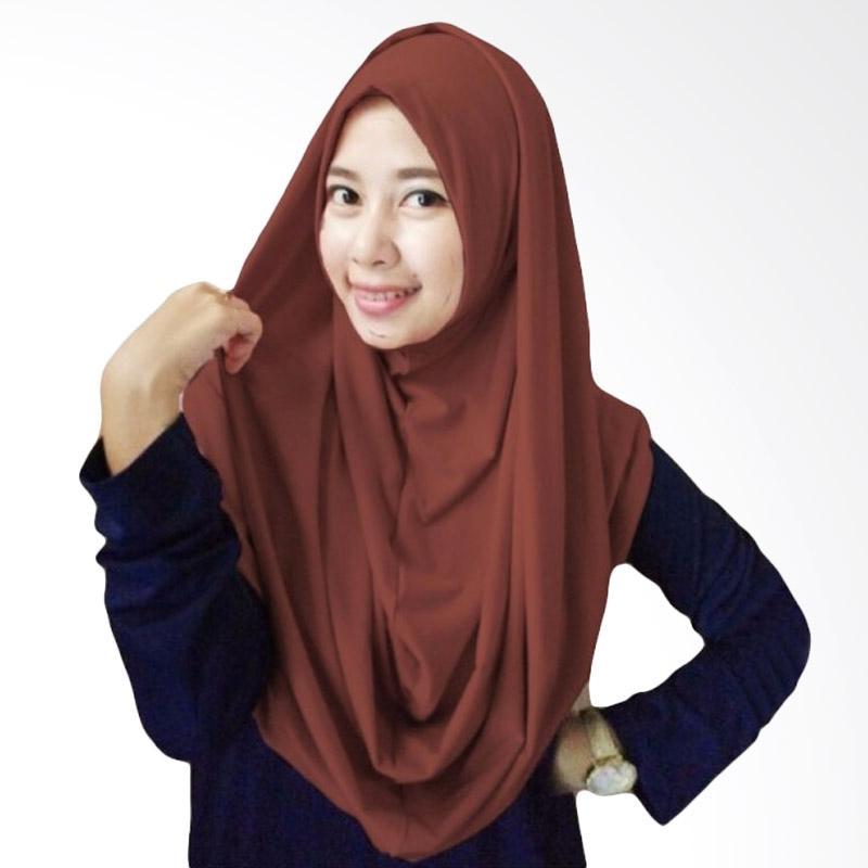 Milyarda Hijab Long Syria Kerudung - Coklat