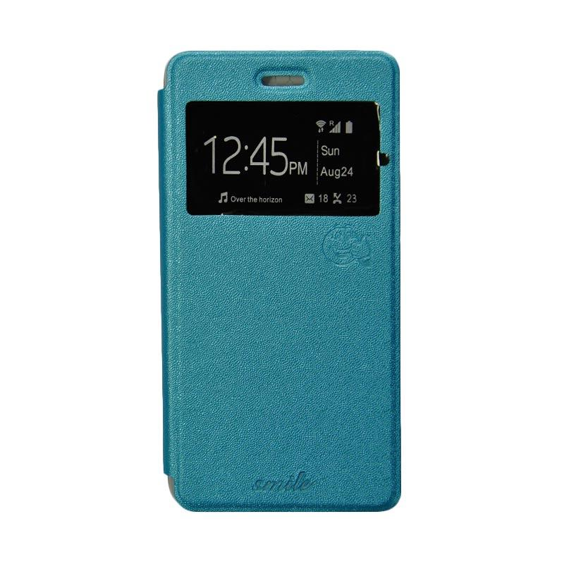 SMILE Standing Cover Casing for Andromax R2 - Light Blue