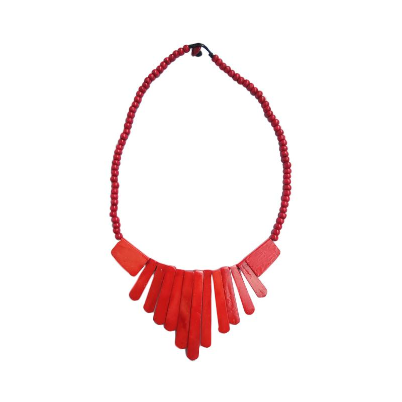 Tata Bali Shop 244 Kalung Fashion Wanita Khas Bali - Red