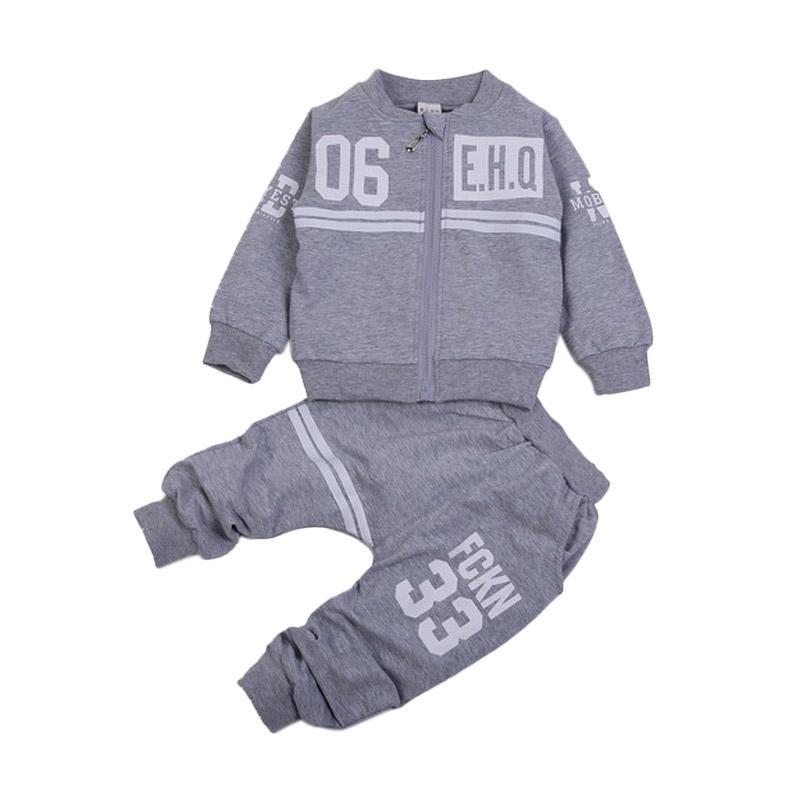 Chloe Babyshop EHQ F972 Setelan Baju Anak - Grey