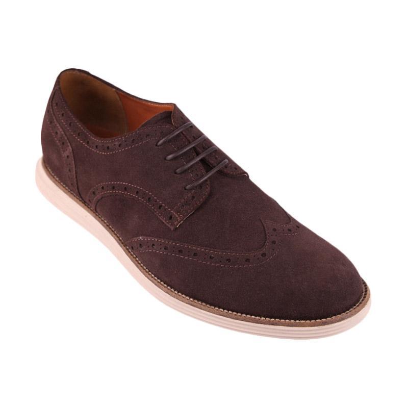 Ftale Footwear Lastmaker Mens Shoes Sepatu Pria - Suede Brown